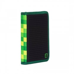 Pixie School Pencil Case CHECKERED GREEN / BLACK