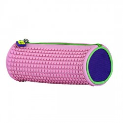 PIXIE ROUNDED PENCIL CASE PURPLE / PINK