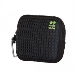 PIXIE UNIVERSAL POUCH CHECKERED GREEN / BLACK