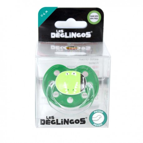 Sucette en silicone physio douce Alligator 0-6m