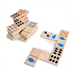 Dominos Grands animaux 28 pcs, 13 x 6.5 cm