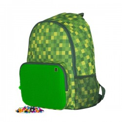 PIXIE BACKPACKS CHECKERED GREEN / GREEN