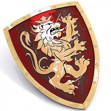 Knight Shield, Noble Knight, red