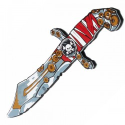 Couteau de Pirate, Pirate Rayure Rouge