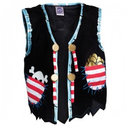 Pirate Vest, Pirate Red Stripe