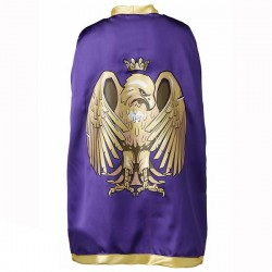 Knight Cape, golden eagle, purple