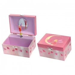 MUSICAL JEWELRY BOX MOON Nut Cracker Tchaikovs