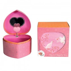 MUSICAL JEWELRY BOX DOVE 13 X 12 X 9 CM