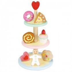 Plateau à gâteau trois étages