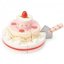 Gâteau de mariage à la fraise