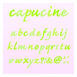 SET OF 8 D'CO CAPUCINE ALPHABET