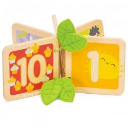 Livre en bois - Je compte de 1 à 10