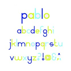 SET OF 8 D'CO PABLO ALPHABET