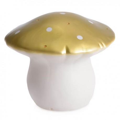 LAMP MUSHROOM MEDIUM GOLD