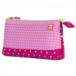 Pixie Pencil Case WHITE DOTS / PINK