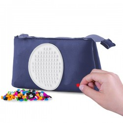 PENCIL CASE NAVY BLUE WITH GLOW IN THE DARK CIRCLE