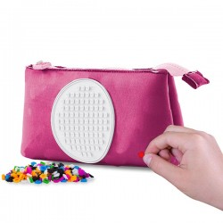 PENCIL CASE FUCHSIA WITH GLOW IN THE DARK CIRCLE