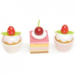 """""""Petits fours"""": 3 cupcakes in a gift-box"""
