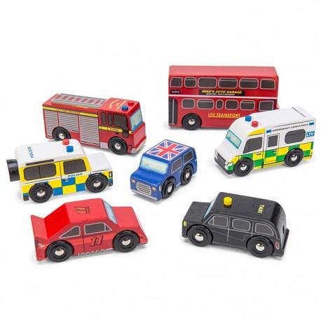 Ensemble de voitures Londoniennes