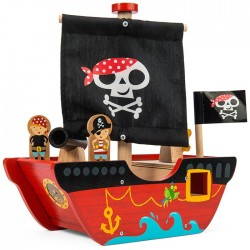 Bateau de pirate petit capitaine