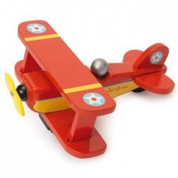 """Avion biplane rouge """"requin"""""""