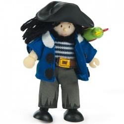 "Le Pirate ""Jolly"" avec son perroquet"