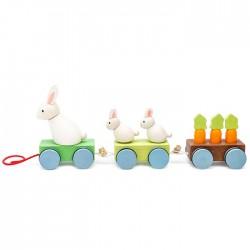Le train de la famille lapin