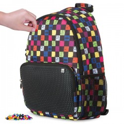 PIXIE BACKPACKS CHECKERED MULTICOLOR / BLACK