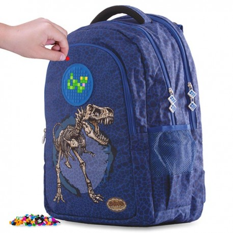 Pixie Backpack STUDENT STYLE DINO BLUE