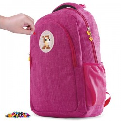 BACKPACK STUDENT STYLE  FUCHSIA