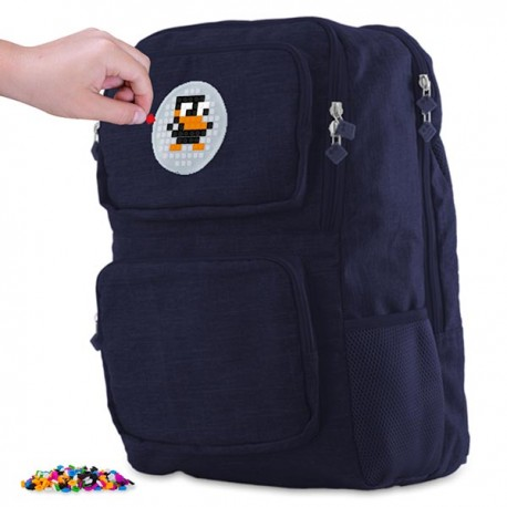 Pixie Backpack NAVY BLUE  WITH 2 FRONT POCKETS