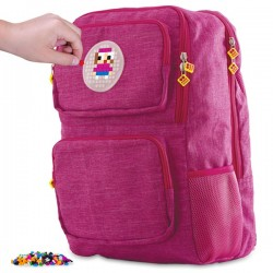 BACKPACK FUCHSIA WITH 2 FRONT POCKETS
