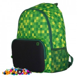 Pixie Backpack CHECKERED GREEN / BLACK