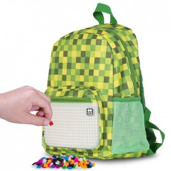 PIXIE BACKPACKS CHECKERED GREEN / GLOW IN THE DARK