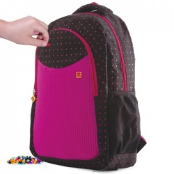 BACKPACK STUDENT STYLE  FUCHSIA & DOTS