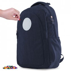 BACKPACK STUDENT STYLE NAVY BLUE