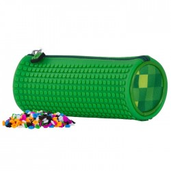 PIXIE ROUNDED PENCIL CASE CHECKERED GREEN / GREE