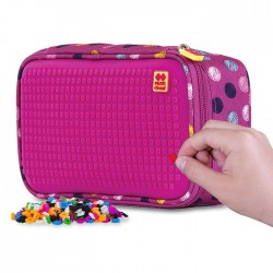 Pixie Student Pencil Case BUBBLE GUM / FUCHSIA