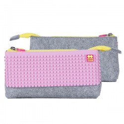 PIXIE PENCIL CASES GREY / PINK