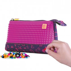 PIXIE PENCIL CASES PURPLE WITH FUCHSIA LE