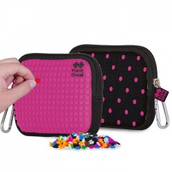 POUCH FUCHSIA AND DOTS