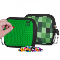 PIXIE POUCH CHECKERED GREEN  / GREEN