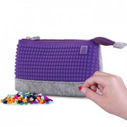 PENCIL CASE GREY / MAUVE
