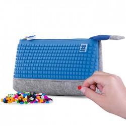 PENCIL CASE GREY / BLUE