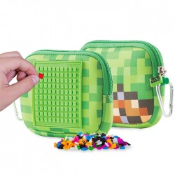 POUCH GREEN VIDEO GAME PATTERN