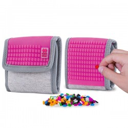 Pixie Wallet GREY / FUCHSIA