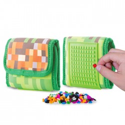 Pixie Wallet VIDEO GAME PATTERN WITH GREEN SQUARE