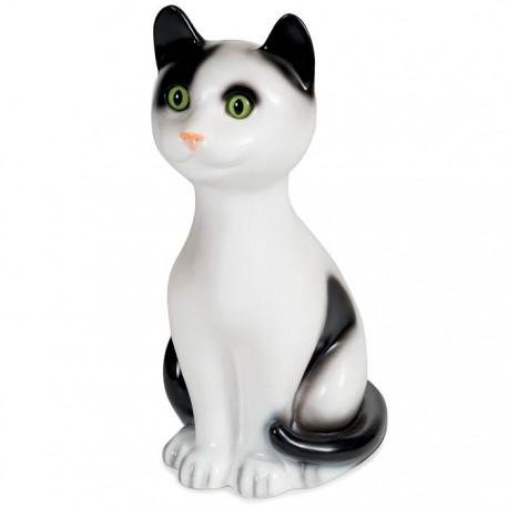 LAMP CAT CLEO WHITE/BLACK