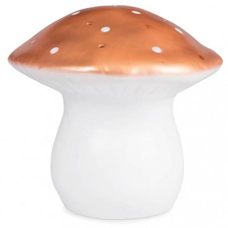 LAMP LARGE MUSHROOM COPPER