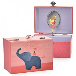MUSICAL JEWELRY BOX ELEPHANT IT'S A SMALL WORLD